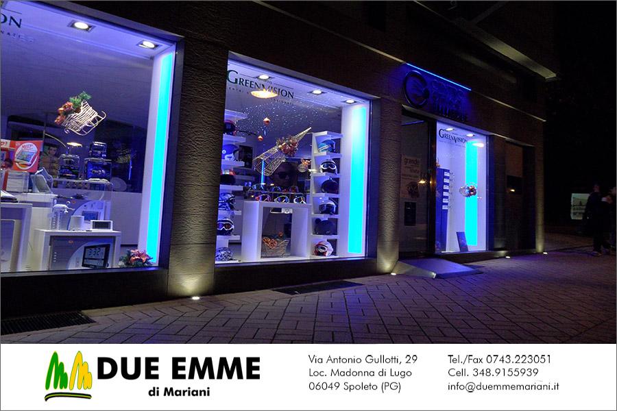 Illuminazione esterno negozio: progetti illuminazione negozi